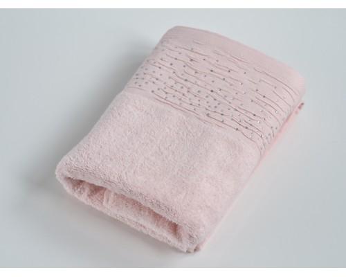 Махровое полотенце Diamond. 50*90 см, розовый персик