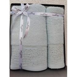 Набор махровых полотенец, 50*90 + 70*140