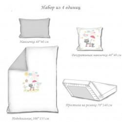 Комплект постельного белья Spring rain Grey
