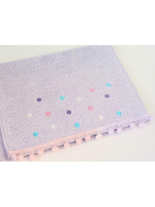 """Махровое полотенце """"Dots"""", 30*50 см, сиреневый"""