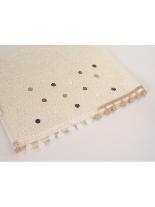 "Махровое полотенце ""Dots"", 30*50 см"