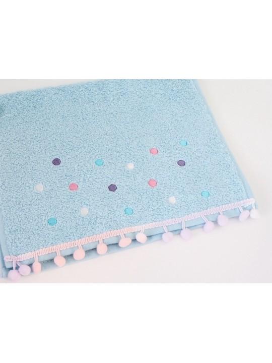 """Махровое полотенце """"Dots"""", 30*50 см, голубое"""