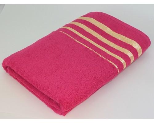 """Махровое полотенце """"Золото"""", 70*140 см, розовый"""