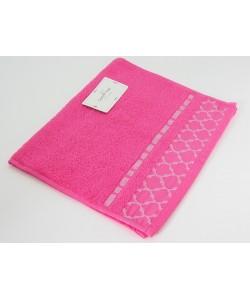 "Махровое полотенце ""Геометрия"", 30*50 см, розовое"